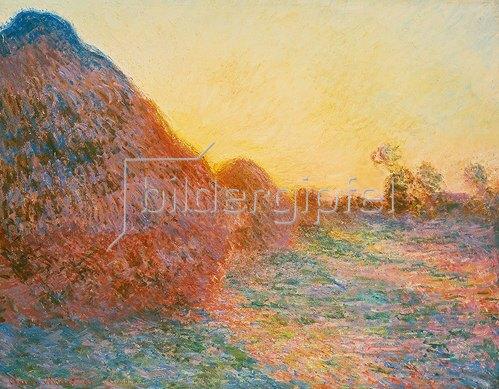 Claude Monet: Strohschober im Sonnenlicht. 1891