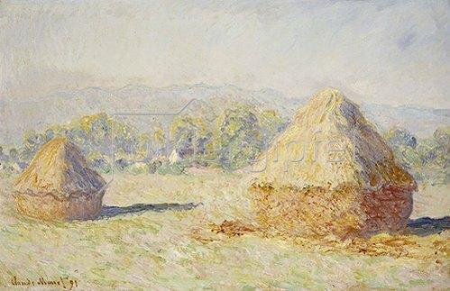 Claude Monet: Strohschober im Morgenlicht. 1891
