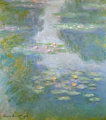 Claude Monet: Seerosen (Wasserlandschaft). 1908.