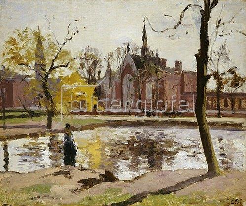 Camille Pissarro: Das Dulwich College in London. 1871