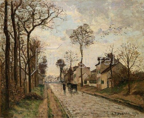 Camille Pissarro: Straße in Louvecienne. 1870
