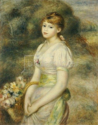 Auguste Renoir: Junges Mädchen mit einem Korb voller Blumen. 1888