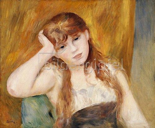 Auguste Renoir: Junges nachdenkliches Mädchen.