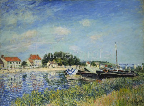 Alfred Sisley: Am Ufer des Flusses Loing in Saint-Mammes. 1885