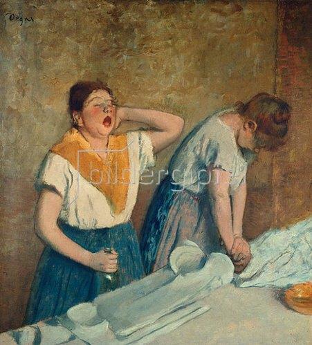 Edgar Degas: Die Büglerinnen. Um 1882.