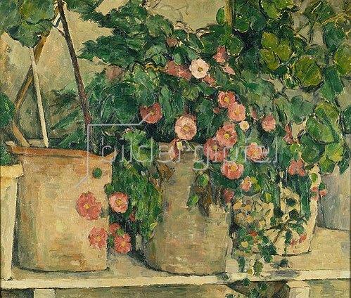 Paul Cézanne: Stilleben mit Petunien. Um 1885