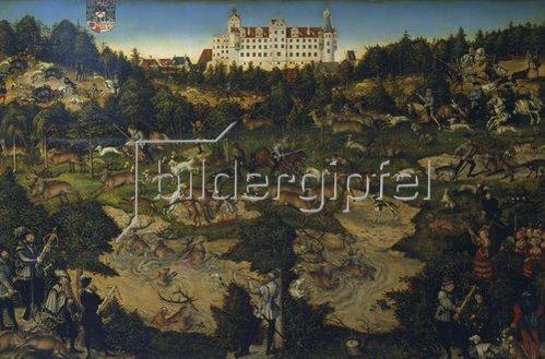 Lucas Cranach d.Ä.: Hofjagd in Torgau zu Ehren Karls V.