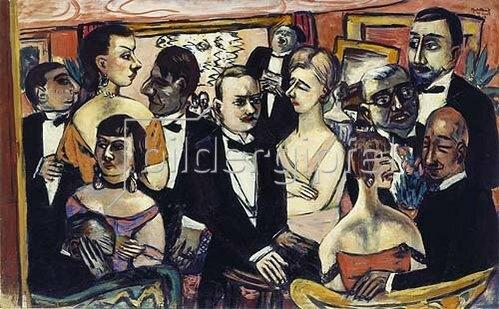Max Beckmann: Gesellschaft Paris. 1925/1931/1947.