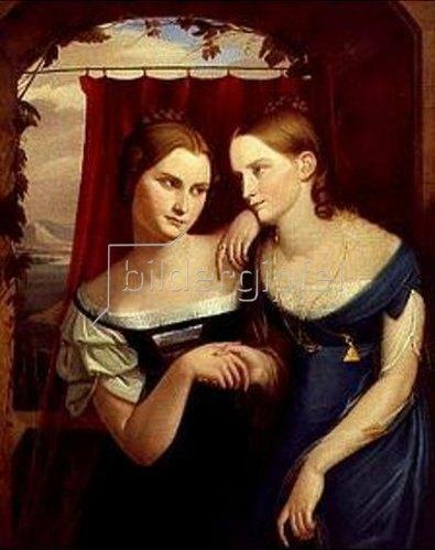 Carl Begas d.Ä.: Die Schwestern Hufeland.