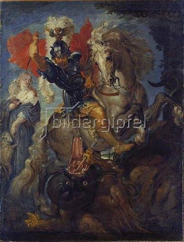 Peter Paul Rubens: Der heilige Georg zu Pferde.