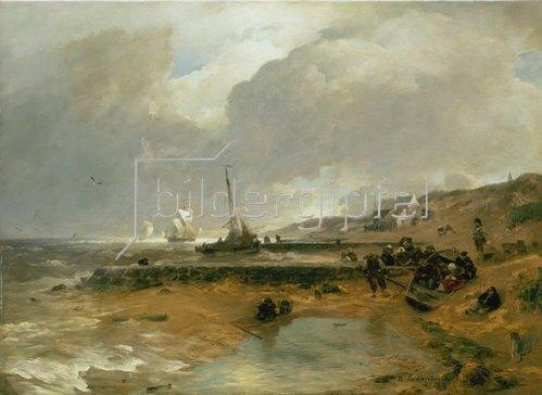 Andreas Achenbach: Strandszene. 1880.