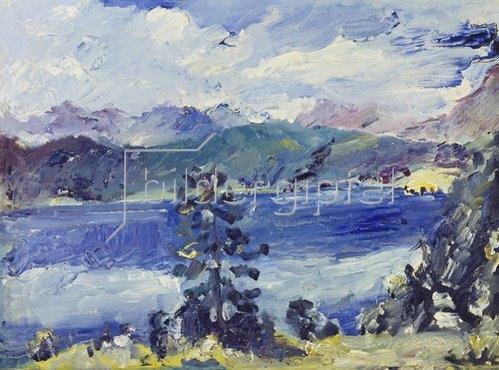 Lovis Corinth: Walchensee mit Lärche. 1921.