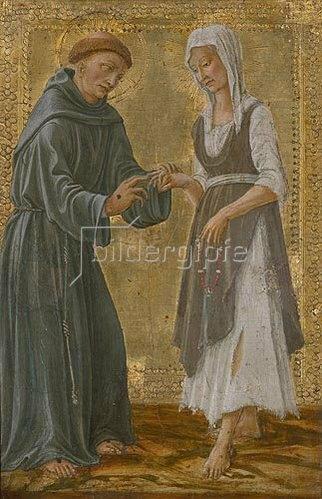 Il Vecchietta (P.di Lorenzo): Der hl.Franziskus vermählt sich der Armut.