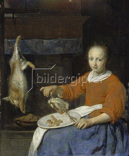 Gabriel Metsu: Die Köchin. Wohl um 1665