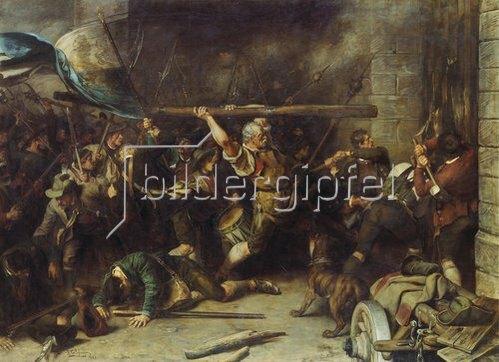 Franz von Defregger: Die Erstürmung des Roten Tores (oder: Der Schmied von Kochel). 1881.