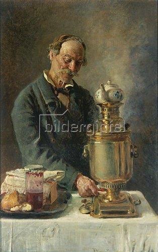 Konstantin Jegor Makovskij: Teetrinker am Samowar.