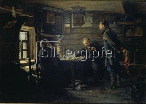 Wladimir J Makovskij: In einem russischen Dorfgasthaus. 1872/1873.