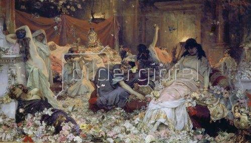Pavel Alexandrow Swedomski: Römische Orgie (In Blumen begraben).