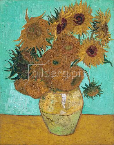 Vincent van Gogh: Vase mit Sonnenblumen. 1888