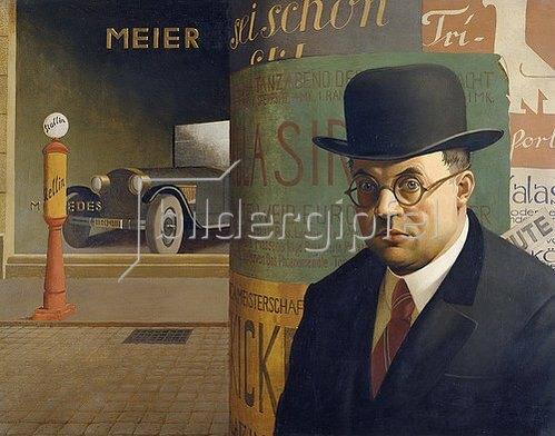 Georg Scholz: Selbstbildnis 1926.