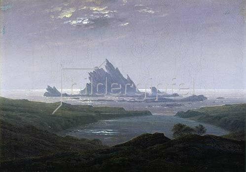 Caspar David Friedrich: Felsenriff am Meeresstrand. 1824.