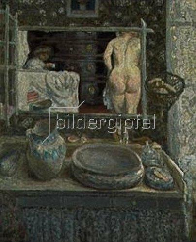 Pierre Bonnard: Vor dem Spiegel.