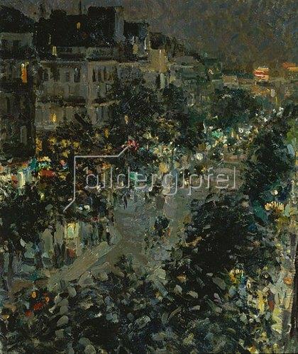 Alexejew. Konstantin Korovin: Der Boulevard des Italiens in Paris bei Nacht. 1908.