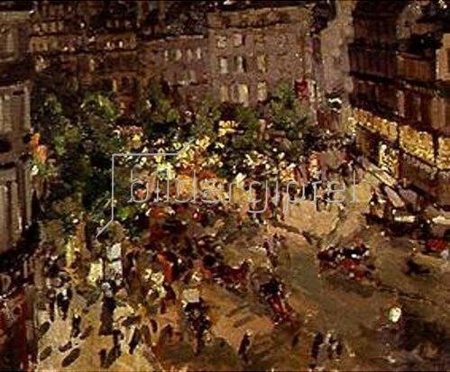 Alexejew. Konstantin Korovin: Nächtlicher Platz in Paris.