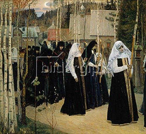 Michail Wassiljew Nesterow: Die große Mönchsweihe. 1898.
