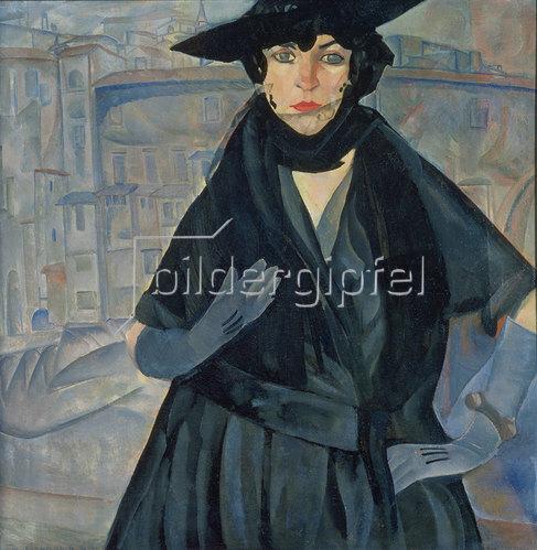 Boris Dimitrijew Grigorjew: Dame in Schwarz. 1910.