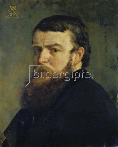 Hans Thoma: Selbstbildnis aus München. 1873.