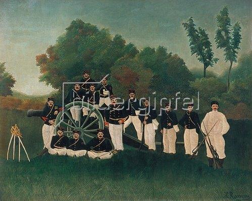 Henri Rousseau: Die Artilleristen. Um 1895.