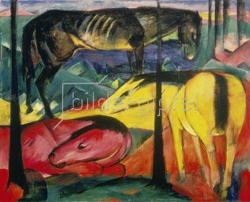 Franz Marc: Die drei Pferde. 1913.