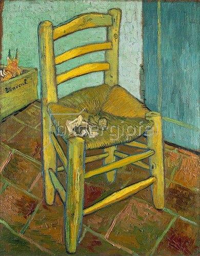van gogh 39 s stuhl in arles mit pfeife von vincent van gogh kunstdruck. Black Bedroom Furniture Sets. Home Design Ideas