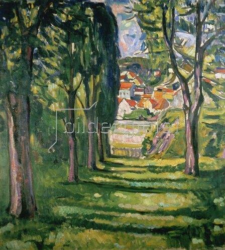 Edvard Munch: Park in Kragerø, Norwegen. Um 1910.