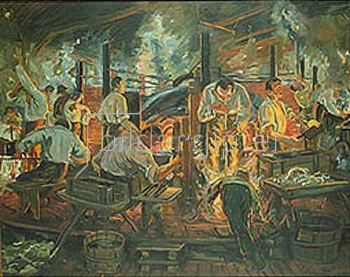 Reinhold Koeppel: Glasbläser. 1926.