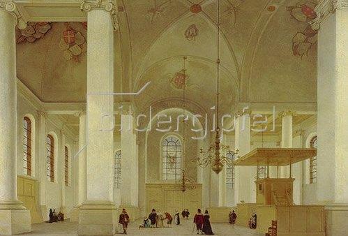 Pieter Jansz Saenredam: Inneres der Neuen Kirche (Nieuwe Kerk) von Haarlem. 1652