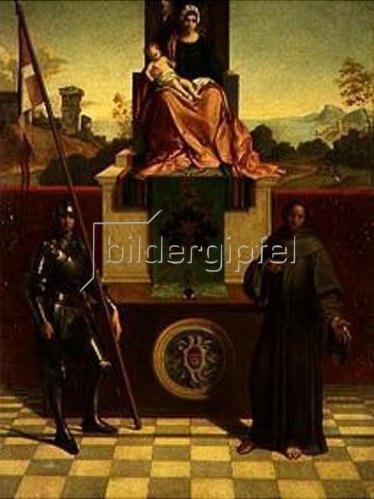 August Wolf: Die Madonna von Castelfranco (nach Giorgione).