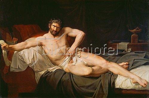 Guillaume Lethiere: Der Selbstmord des Marcus Porcius Cato 46 n.Chr. Gemalt 1795.