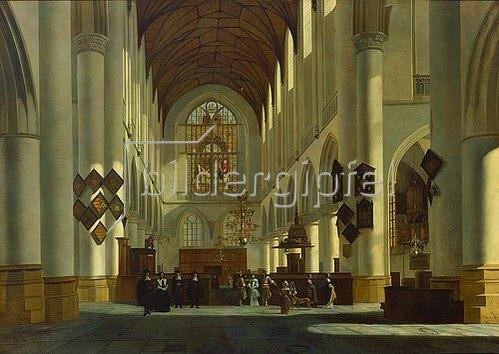 Job Adriaensz Berckheyde: Inneres der Grossen oder St.Bavo-Kirche in Haarlem. 1668.