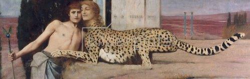 Fernand Khnopff: Die Sphinx (auch: Die Kunst, oder: Die Zärtlichkeit). 1896