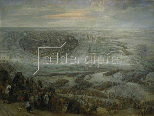Pieter Snayers: Der Entsatz der Stadt Freiberg in Meißen. 1648