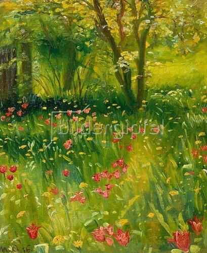 Michael Peter Ancher: Der Frühlingsgarten. 1916.