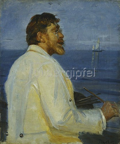 Michael Peter Ancher: Bildnis des Malers Peter Severin Kroyer. 1907.