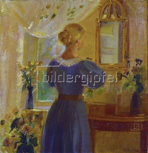 Anna Ancher: Frau vor dem Spiegel. 1900
