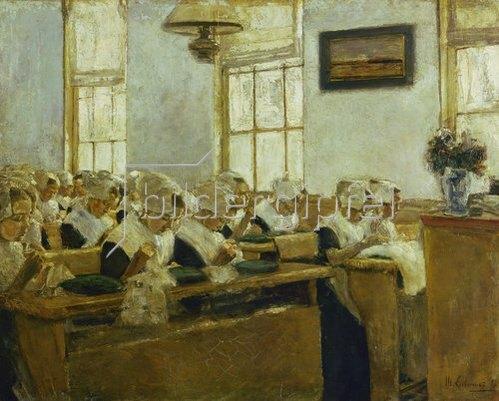 Max Liebermann: Holländische Nähschule. 1876.