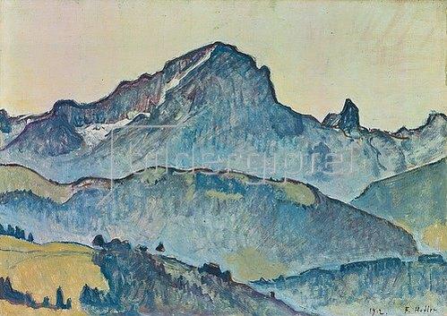 Ferdinand Hodler: Le Grand Muveran (Berner Alpen). 1912.
