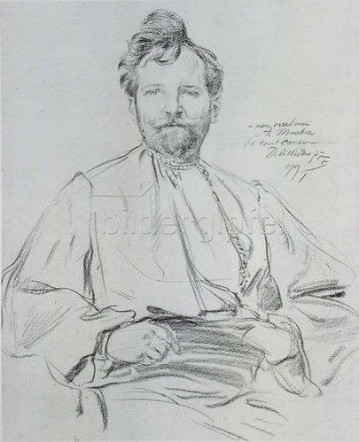 Alfons Mucha: Selbstbildnis, 1899.