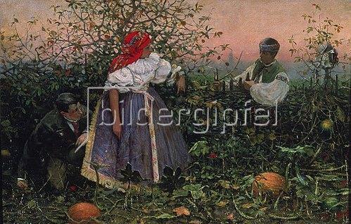 Joza Uprka: Das gestörte Stelldichein. 1888