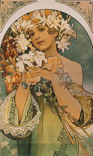 Alfons Mucha: Blume. 1897.